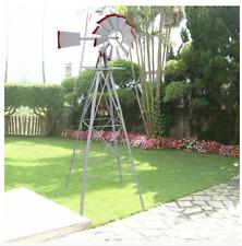 Small Metal Windmill Backyard 8 Foot Garden Heavy Duty Galvanized Vintage Best