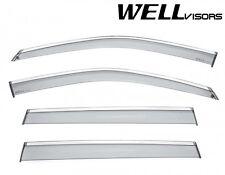 17-Up Jeep Compass WellVisors Side Window Visors w/ Chrome Trim