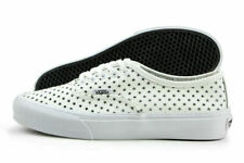 af34790c7c Vans Authentic Slim Perf Stars Mens Size 7.5 White Skate Shoes Womens Size 9