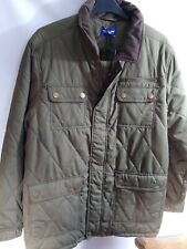 "Mens Premier Man green Quilted winter Coat Size L 44/46""  bnwt ref rail"