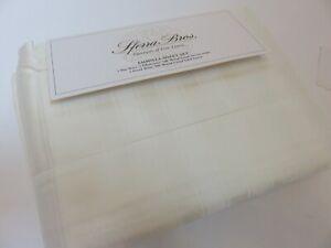 Sferra Emmilla Stripe 4P King Sheet Set Ivory 500tc Egyptian Cotton Italy $670