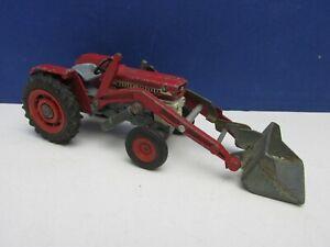 vintage CORGI TOYS MF 165 MASSEY FERGUSSON TRACTOR DIECAST SHOVEL farm 2053