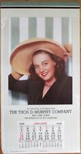 Pinup 1948 13x24 Poster/Advertising Calendar - Woman in Hat - 'Yours Truly'