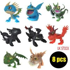 8Pcs Movie How to Train Your Dragon Night Fury Action Figures Doll Kids Toys UK