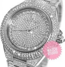 Tono Plata MK5869 Michael Kors Camille Pave Cristal Cuadrante Reloj para Mujeres Glitz