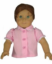 "Pink Short Sleeve Blouse Fits 18"" American Girl Dolls"