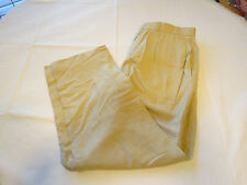 Mens Polo By Ralph Lauren Pant 32 pleated pants slacks linen silk sand EUC@