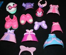 Mickey Mouse Figure Lot Minnie Shoes Clothes Bows Accessories  --IIX