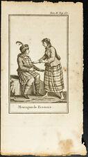 1806 - Gravure ancienne de Montagnards Ecossais - Costumes & Kilts. Ecosse.