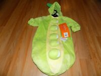 Baby Size 0-6 Months Hyde & Eek Peapod Pea in the Pod Halloween Costume Bunting