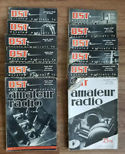 Vintage QST AMATEUR RADIO MAGAZINE - 1940 Full Year, 12 Issues