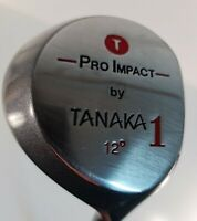 Tanaka Japan Vintage Pro Impact Driver 1 Steel Wood 12° Collectors Immaculate