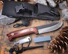 Elk Ridge BUSHCRAFT Outdoormesser mit Zubehör Messer Pakkaholzgriff ER-555PW