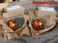 US Military Truck Jeep M151 M38 Front Turn Signal 24V Amber Bullet Light Pair