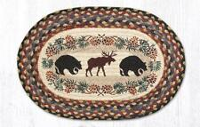 Bear and Moose Oval 13 x 19 Placemat by Earth rugs