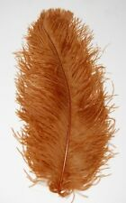 """3 TOPAZ Ostrich FEATHERS 18-23"""" Full Wing PLUMES; Bridal/Wedding/Centerpiece/Hat"""