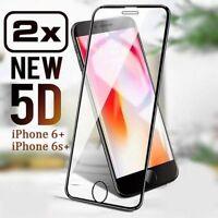 2x 5D Schutzglas iPhone 6 PLUS iPhone 6s PLUS Schutzfolie Echt Glas Hartglas 9H