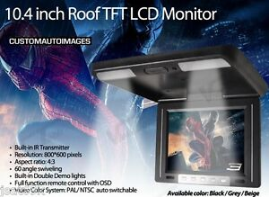 10.4 Inch TFT LCD Roof Overhead Flip Car Monitor with IR Transmitter Dome Light