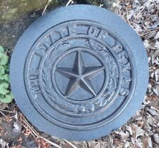 "small stepping stone Texas star plastic mold 9"" x 1"" t hick"