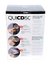 Access Quicdisc CD Storage Rack White Hold 15 CD Platinum White