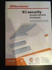 New listing Office Depot Brand #8 Double-Window Envelopes, White, Gummed, 500-Pk