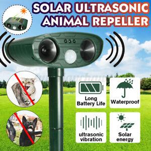 18-40Khz Ultraschall Solar Tiervertreiber Vogelschreck Repeller Gartenschutz DHL