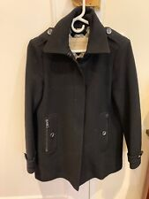 Authentic Women's Burberry Brit Wool Cashmere Coat In Black, Size US 8