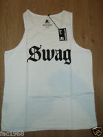 "Genuine Starter Men's Type Tank Top "" Swag "" Vest White L XL XXL New BNWT"