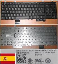 CLAVIER QWERTY ESPAGNOL DELL 1735 1736 1737 NSK-DD00S 0TR467 OTR467 TR467 Noir