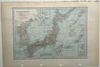Antique Map Of Japan The Japanese Empire  C1939  Large