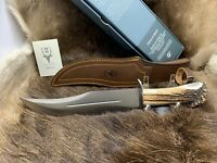 "Muela 14"" Stag Fixed Blade ""Lobo""  Knife Mint Box With Leather Sheath Lobo - 23S"