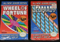 (2) NES Junior Edition Jeopardy & Wheel of Fortune Complete w/ Box - Nintendo