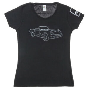Triumph Spitfire Women's T-Shirt in Black Size XS - available also in S/M/L/XL