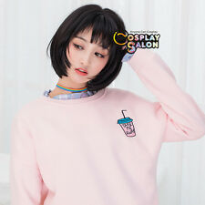 30CM Black Brown Lolita Daily Natural Bob Heat Resistant Fashion Cosplay Wig+Cap