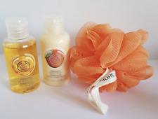 the body shop mango travel set whip, shower gel, scrunch