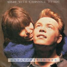 "UB 40  WITH CHRISSIE HYNDE - BREAKFAST IN BED (GERMAN VIRGIN 111569-100) 7""PS'88"