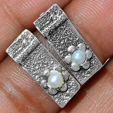 Isreali Design - Fresh Water Pearl 925 Silver Earring - Stud Jewelry AE164011