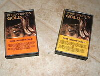 Pure Country Gold Various Hits 2 Cassette Tape Lot
