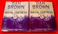 Dan Brown Digital Fortress 4-Tape Audio Book Bruce Sabath Thriller/Adventure