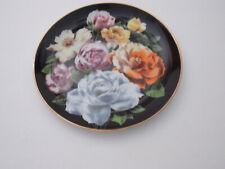 """Danbury Mint - Rose - """"The Flower Gardens of Count Bernadotte"""" Plate - 1989"""