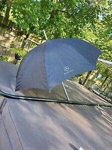 Genuine Mercedes-Benz Black Umbrella Golf Rain Windproof Logo