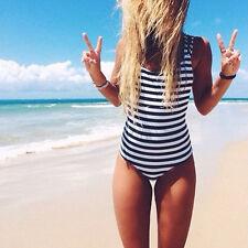 Rayas Dama una sola pieza Set de bikini Monokini Traje baño