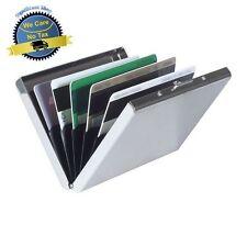 Credit Card ID Holder Slim Money Travel Wallet Men Stainless Steel RFID Blocking