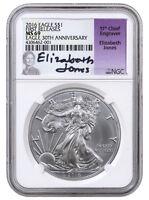 2016 1 Oz American Silver Eagle 30th NGC MS69 FR (Jones Signed Label) SKU38892