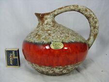 "Beautiful 70´s design JOPEKO Keramik  "" Fat Lava "" jug vase  #  Krugvase 404 17"