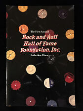 CHUCK BERRY Rock and Roll Hall of Fame Induction Program-BUDDY HOLLY-ELVIS 1986