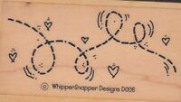 "bug/bird whippersnapper Wood Mounted Rubber Stamp  1 1/2 x 3""  Free Shipping"