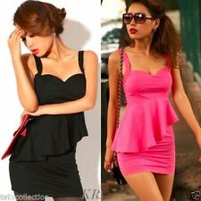 Polyester Dresses for Women with Peplum