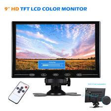 "9"" TFT LCD CCTV Monitor PC Screen AV RCA VGA HDMI w/ Speak for Raspberry Pi 3B+"