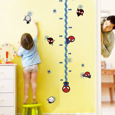 Spiderman Height Measure Growth Chart Wall cobweb Stickers Home Decor Kids decal